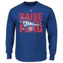 Chicago Cubs Majestic 2016 National League Champions Big & Tall Locker Room Long Sleeve T-Shirt - Royal