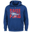 Chicago Cubs Majestic 2016 National League Champions Big & Tall Locker Room Pullover Hoodie - Royal