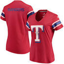 Texas Rangers Fanatics Branded Women's Iconic V-Neck T-Shirt - Red