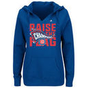 Chicago Cubs Majestic Women's 2016 National League Champions Locker Room Pullover Hoodie - Royal