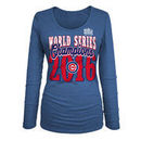Chicago Cubs 5th & Ocean by New Era Women's 2016 World Series Champions Long Sleeve T-Shirt - Royal