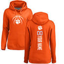 Clemson Tigers Women's Basketball Personalized Backer Pullover Hoodie - Orange