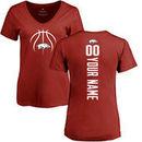 Arkansas Razorbacks Women's Basketball Personalized Backer T-Shirt - Cardinal