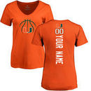 Miami Hurricanes Women's Basketball Personalized Backer T-Shirt - Orange