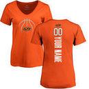 Oklahoma State Cowboys Women's Basketball Personalized Backer T-Shirt - Orange