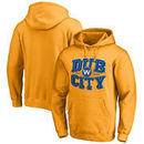 Golden State Warriors Fanatics Branded Hometown Collection Dub City Pullover Hoodie - Gold