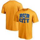 Golden State Warriors Fanatics Branded Hometown Collection Dub City T-Shirt - Gold
