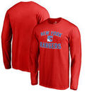 New York Rangers Fanatics Branded Big & Tall Victory Arch Long Sleeve T-Shirt - Red