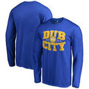 Golden State Warriors Fanatics Branded Hometown Collection Dub City Long Sleeve T-Shirt - Royal