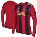 Atlanta United FC adidas 2017 5-Stripe Authentic Long Sleeve Jersey - Red/Black