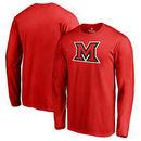 Miami University RedHawks Fanatics Branded Primary Team Logo Long Sleeve T-Shirt - Red
