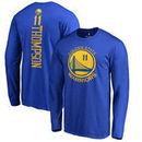 Klay Thompson Golden State Warriors Fanatics Branded Backer Name & Number Long Sleeve T-Shirt - Royal
