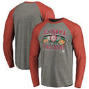 Alabama Crimson Tide Fanatics Branded College Football Playoff 2016 Peach Bowl Bound Prime Long Sleeve Raglan T-Shirt - Heather