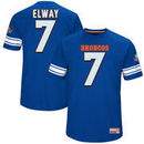 John Elway Denver Broncos Majestic Hall of Fame Hash Mark Player Name & Number T-Shirt - Blue