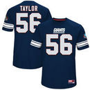 Lawrence Taylor New York Giants Majestic Hall of Fame Hash Mark Player Name & Number T-Shirt - Royal