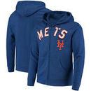 New York Mets Majestic Come Back Win Fleece Full-Zip Hoodie - Royal