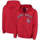 St. Louis Cardinals Majestic Come Back Win Fleece Full-Zip Hoodie - Red