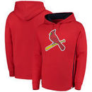 St. Louis Cardinals Majestic Lefty/Righty Pullover Hoodie - Red