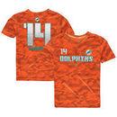 Jarvis Landry Miami Dolphins Youth Vector Camo Dri-Tek Name & Number T-Shirt - Orange