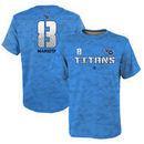 Marcus Mariota Tennessee Titans Youth Vector Camo Dri-Tek Name & Number T-Shirt - Light Blue