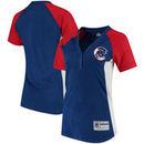 Chicago Cubs Majestic Women's League Diva Snap Placket T-Shirt - Royal