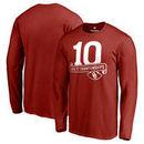 Oklahoma Sooners Fanatics Branded 10 Big 12 Football Championships Long Sleeve T-Shirt - Crimson