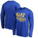 Klay Thompson Golden State Warriors Fanatics Branded 60 Points Long Sleeve T-Shirt - Royal