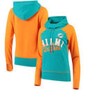 Miami Dolphins G-III 4Her by Carl Banks Women's French Terry Funnel Neck Pullover Hoodie - Aqua/Orange