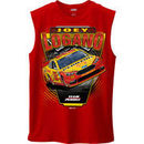 Joey Logano Checkered Flag Shell Pennzoil Muscle T-Shirt - Red