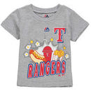 Texas Rangers Majestic Toddler Snack Attack T-Shirt - Gray