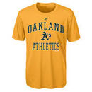 Oakland Athletics Majestic Youth City Wide Cool Base T-Shirt - Green