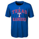 Texas Rangers Majestic Youth City Wide Cool Base T-Shirt - Royal