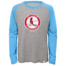 St. Louis Cardinals Majestic Youth Two to One Margin Long Sleeve Raglan T-Shirt - Gray