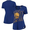 Golden State Warriors Majestic Women's Fanatic Force Scoop Neck T-Shirt - Royal