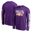 Clemson Tigers Fanatics Branded College Football Playoff 2016 National Champions Play Action Long Sleeve T-Shirt - Heather Purpl