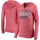 St. Louis Cardinals 5th & Ocean by New Era Women's Jersey Tri-Blend Pullover Hoodie - Red