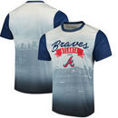 Atlanta Braves Outfield Photo T-Shirt - White/Navy