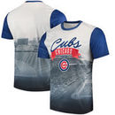 Chicago Cubs Outfield Photo T-Shirt - White/Royal