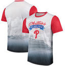 Philadelphia Phillies Outfield Photo T-Shirt - White/Red