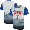 Texas Rangers Outfield Photo T-Shirt - White/Royal