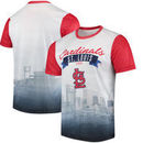 St. Louis Cardinals Outfield Photo T-Shirt - White/Red
