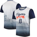 Detroit Tigers Outfield Photo T-Shirt - White/Navy