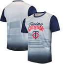 Minnesota Twins Outfield Photo T-Shirt - White/Navy