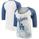Los Angeles Dodgers Forever Collectibles Women's Watermark Baseball T-Shirt - White