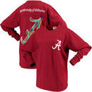Alabama Crimson Tide Pressbox Women's Aloha Pineapple Big Long Sleeve T-Shirt - Crimson
