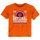 Clemson Tigers Toddler College Football Playoff 2016 National Champions T-Shirt - Orange