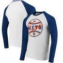 New York Mets New Era Raglan Long Sleeve T-Shirt - White/Royal