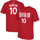 DeMar DeRozan Toronto Raptors adidas Chinese New Year Name & Number T-Shirt - Red