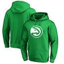Atlanta Hawks Fanatics Branded St. Patrick's Day White Logo Pullover Hoodie - Kelly Green