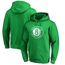 Brooklyn Nets Fanatics Branded St. Patrick's Day White Logo Pullover Hoodie - Kelly Green